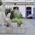 Monumento al ferroviario en Monforte de Lemos
