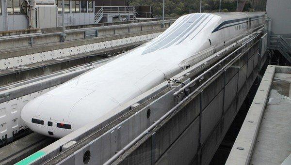 Tren japonés de levitación magnética