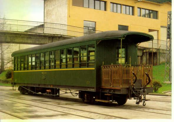 Museo Ferroviario Azpeitia - Coche de madera