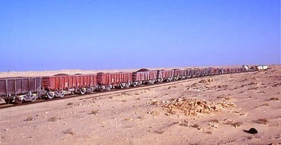 Tren de mineral en Mauritania_03