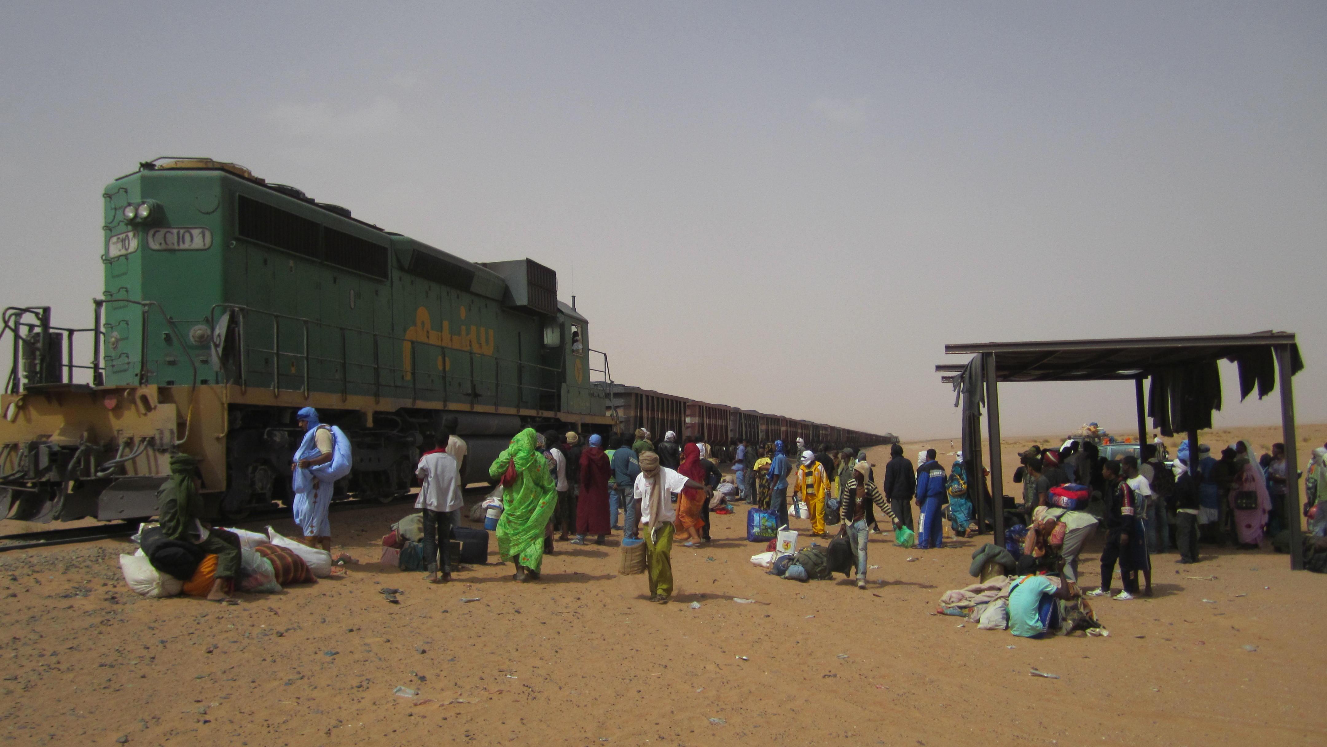 Tren de mineral en Mauritania_04