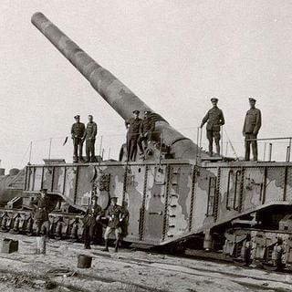Trenes para la guerra - Piieza de artilleria de 416 mm