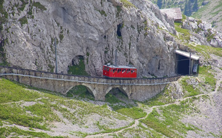 Tren cremallera Suizo, Monte pilatus_02