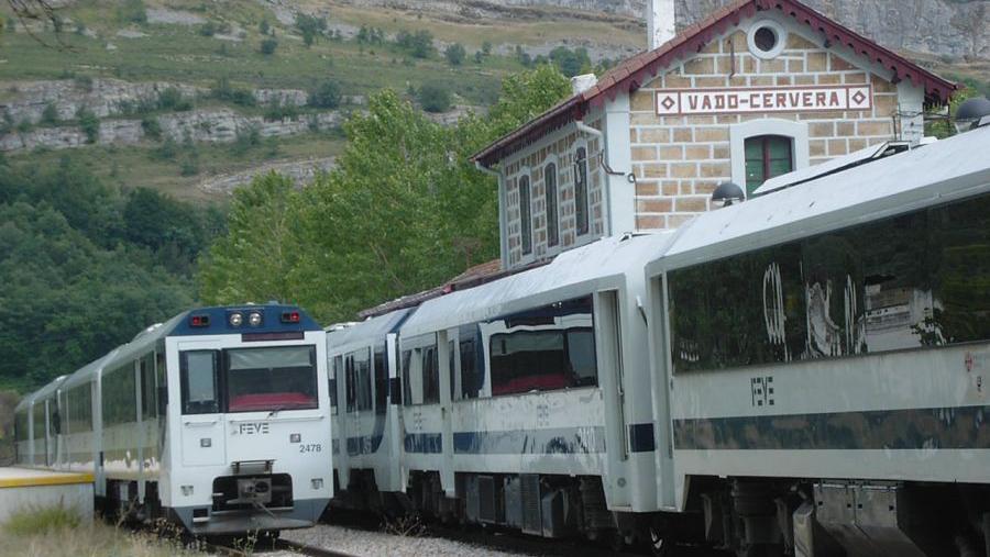Ferrocarril La Robla - Bilbao - Estación Vado-Cervera
