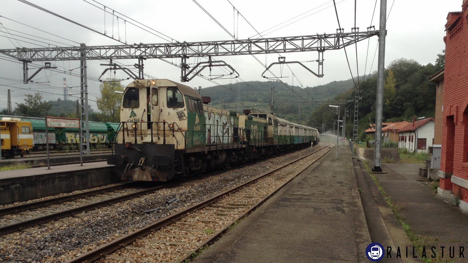 Tren herbicida en Soto de Rey (2017)
