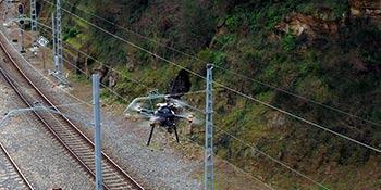 Inspección en remoto de las vías con 5G y drones, en Galicia